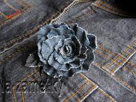 Цветы своими руками. Роза из старых джинсов. Мастер-класс.