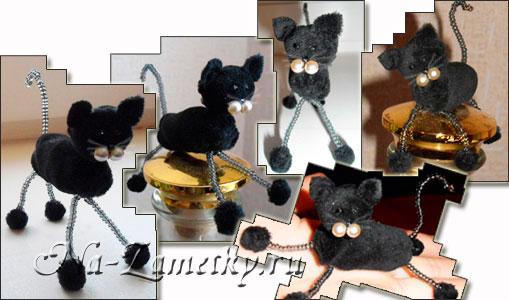 Эта игрушка делается не сложно.  На выходе получается замечательный кот, который может стать подарком к празднику...