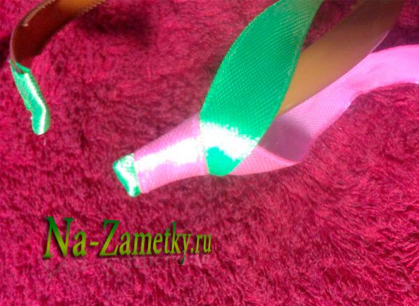 Добавляем зеленую ленту