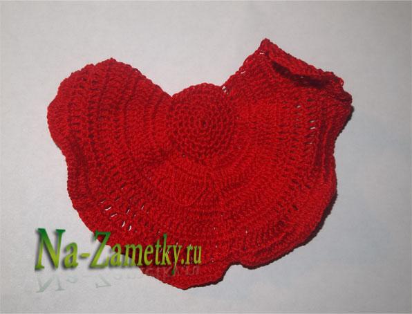 Вязание лепестков мака
