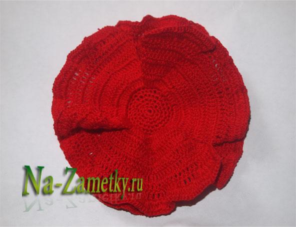 Заготовка вязаного мака
