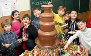 шоколадный фонтан 2