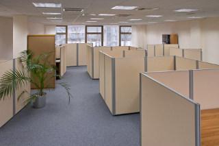 Priečky v kancelárii s vlastnými rukami