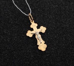 Золотой нательный крестик 1